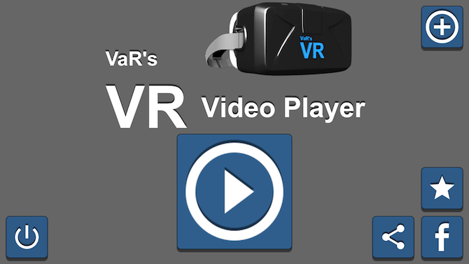 VaR's VR Video Player Google Cardboard